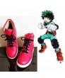 My Hero Academia Midoriya Izuku Deku Red Shoes Cosplay Shoes Boots