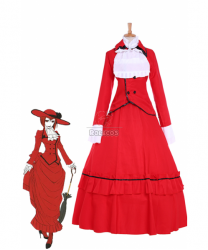 Black Bullet angelina dulles madame red Dress Cosplay Costume