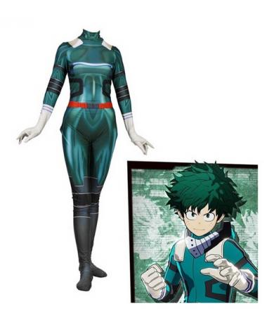 Boku No Hero Academia Midoriya Izuko Deku Cosplay Costumes 3D Printed