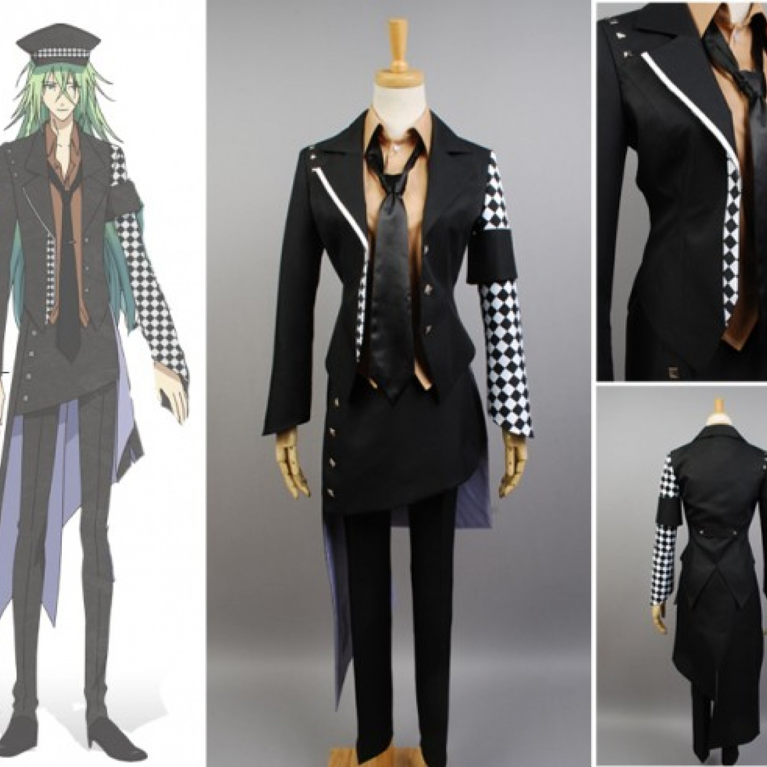 Amnesia Ukyo Black Jacket Full Full Sets Cosplay Costume
