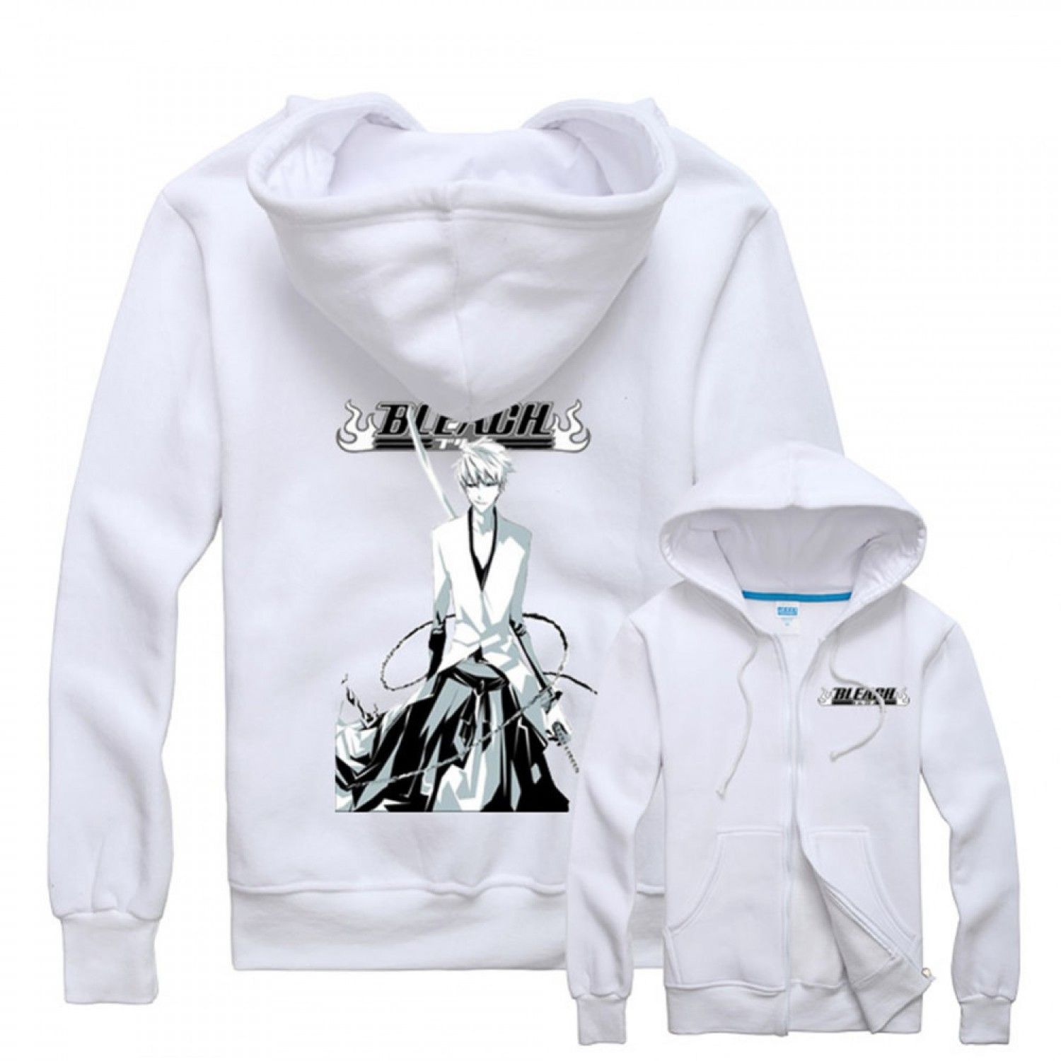 Bleach Ichigo Hoodies Cosplay Zip Up Hoodie For Men
