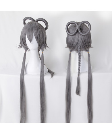Vocaloid Luo Tianyi Gray Long Cosplay Wig