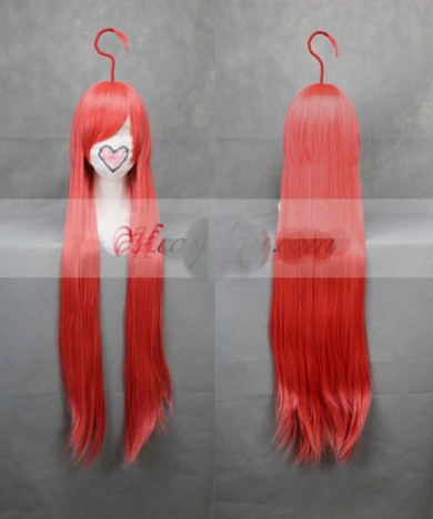 Vocaloid Miki Long Straight Red Cosplay Wig