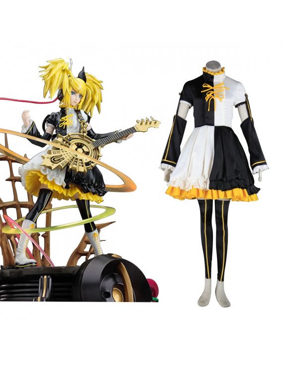 Cosplay Costume for Deluxe Vocaloid Kagamine Rin Len 1ST Dress