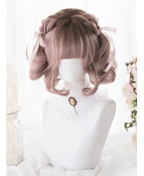 Elegant Classic Lolita Wigs Short Mixed Color Dyed Gradient Bob Party Wig