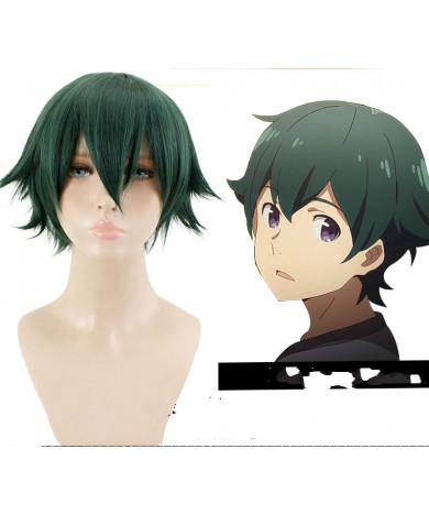 Eromanga Sensei Masamune Izumi Green Short Synthetic Hair Cosplay Wig