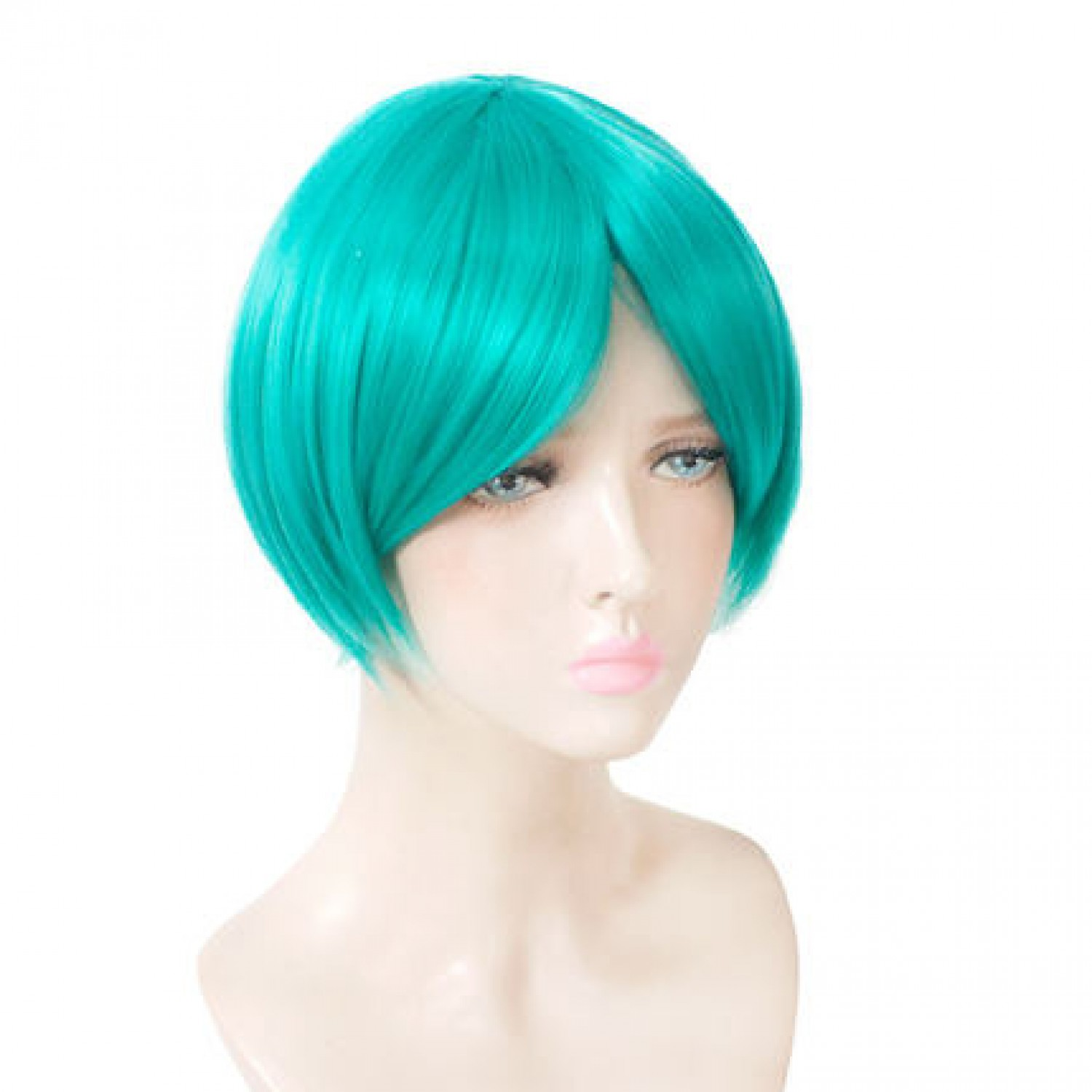 Land of the Lustrous Phosphophyllite Light Blue Short Hair Cosplay Wig