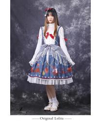 Sweet Lolita Dress Original Christmas In The Distance 3D Print Sweet JSK Dress