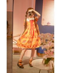 Sweet Lolita Dress Original Retro Baking Bread OP Party Dress