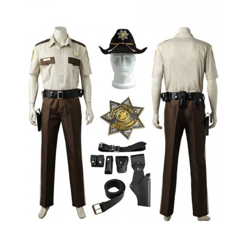The Walking Dead Season Rick Grimes Cosplay Costume