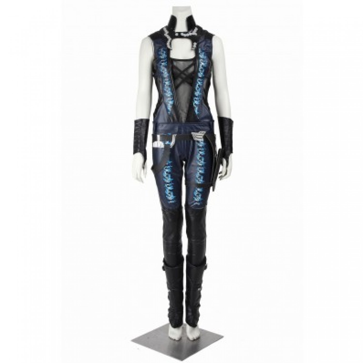 Guardians Of The Galaxy Gamora PU Pleather Cosplay Costumes