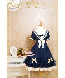 Strawberry Witch Sailor Style TOP Lolita Dress for Summer