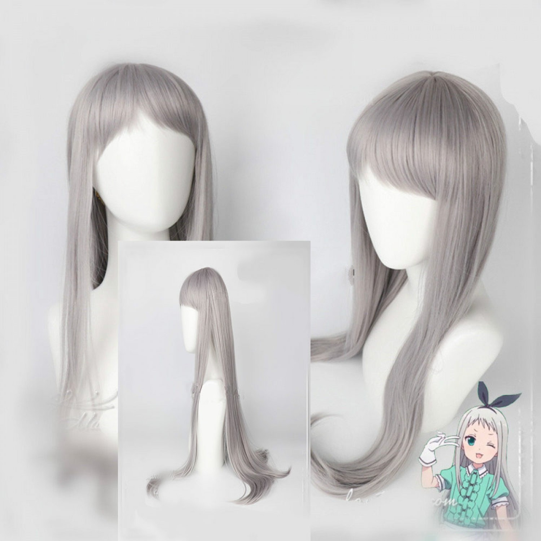 Blend S Hideri Kanzaki Long Silver Gray Cosplay Wig 80 cm
