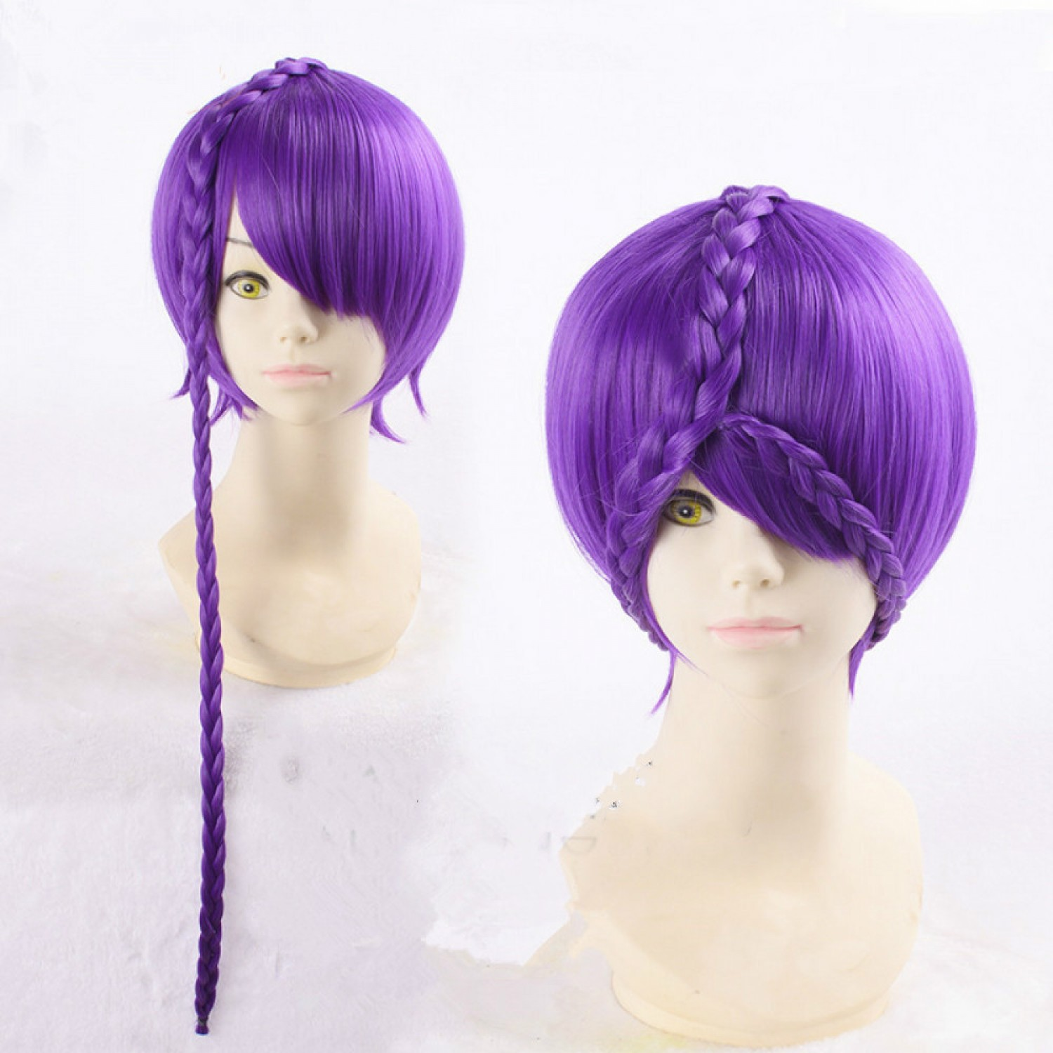 Land of the Lustrous Houseki no Kuni Amethyst Short Purple Styled Japan Anime Cosplay Wig