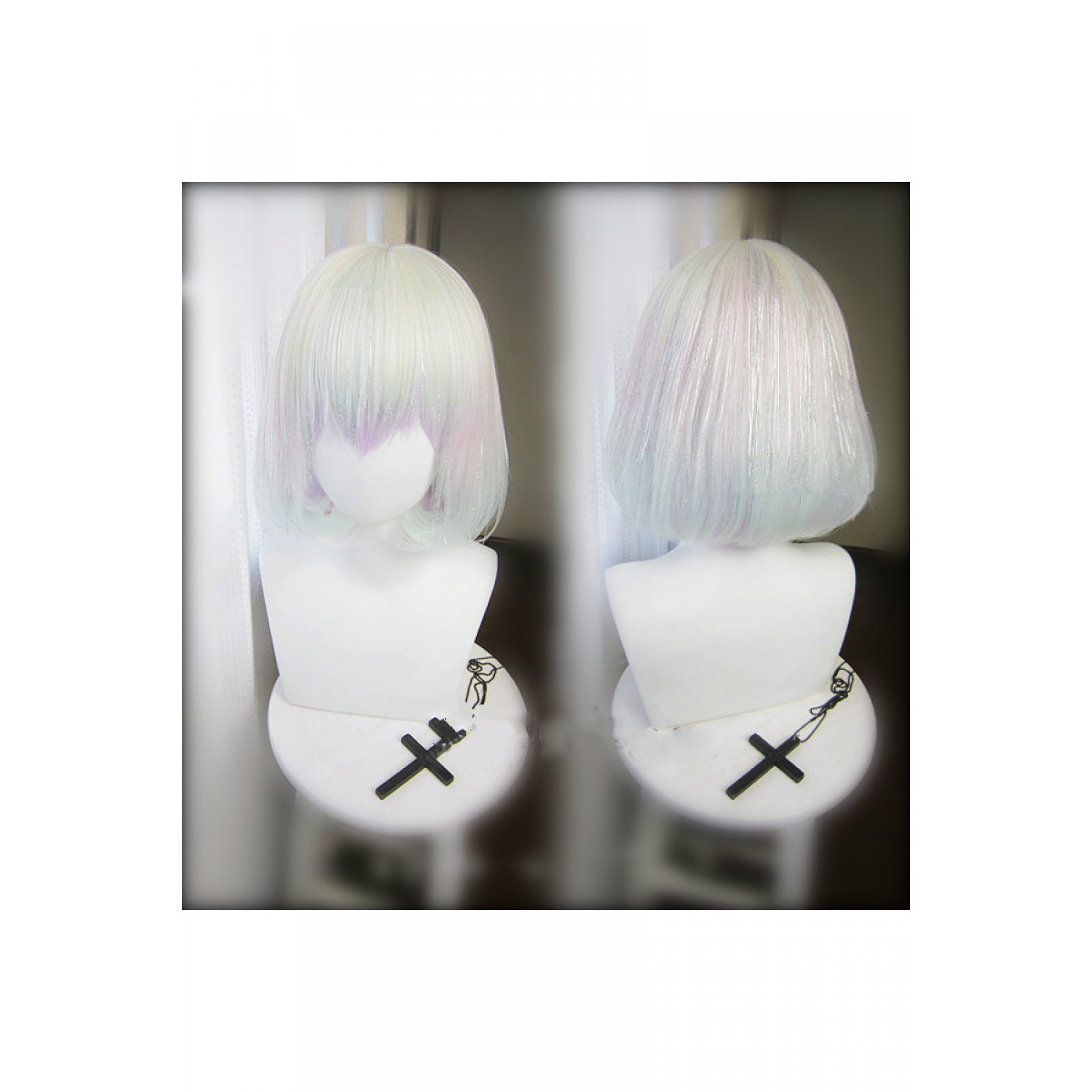 Land of the Lustrous Diamond Cosplay Wig with Laser