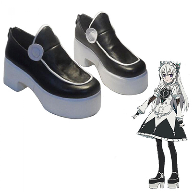 Chaika - The Coffin Princess Chaika trabant PU Leather Cosplay Shoes