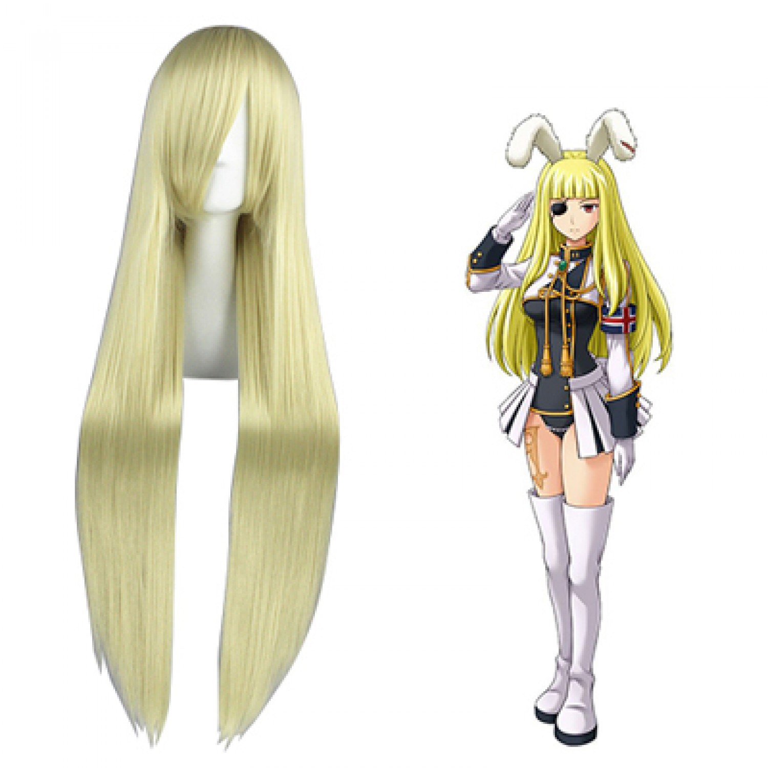 When They Cry Chiesters Light Blonde Synthetic Hair Cosplay Wig