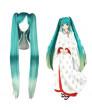 Vocaloid Snow Miku Aqua Blue Long Straight Ponytail Cosplay Wig