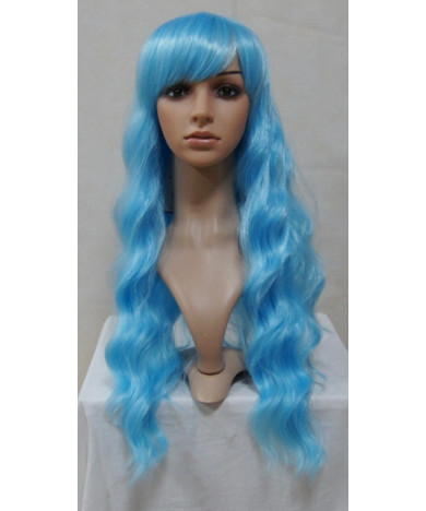 Blue Classic Lolita Wig Long Wavy Synthetic Hair Party Wigs