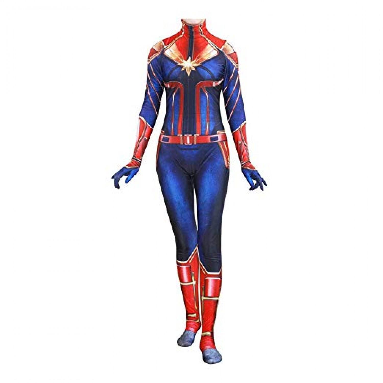 Avengers Infinity War Captain Marvel Ms.Marvel Spandex Jumpsuit Cosplay Costume