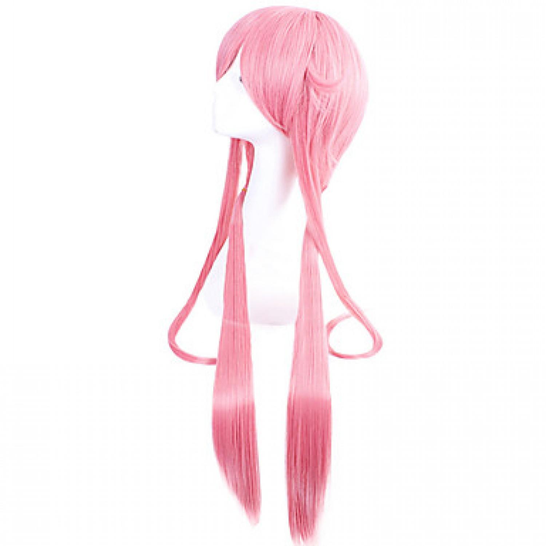 The Future Diary Gasai Yuno Heat Resistant Fiber Pink Anime Cosplay Wigs