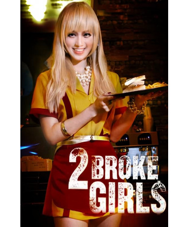 2 Broke Girls Caroline Light Blonde Long Synthetic Hair Cosplay Wig