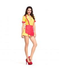 2 Broke Girls Max Apron Dress Uniform Skirt Suit Cosplay Customes
