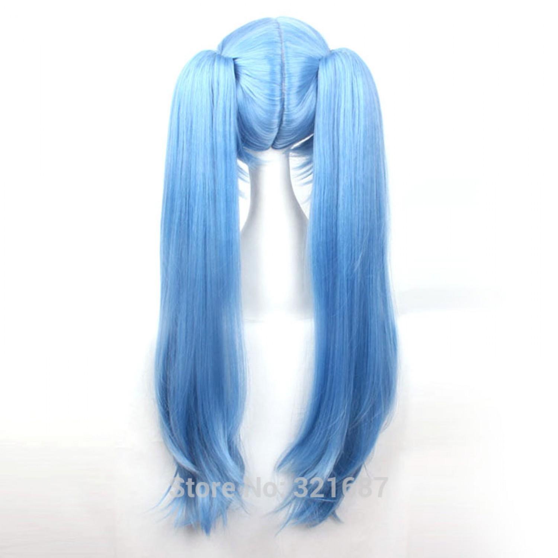 AKB0048 Mayuyu Blue Long Cosplay Wig 80 CM