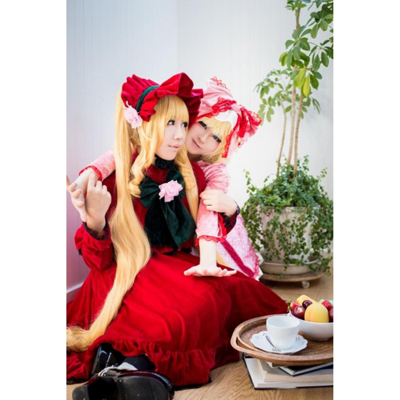 Rozen Maiden Shin ku Reiner Rubin Golden Cosplay Wig 120 cm
