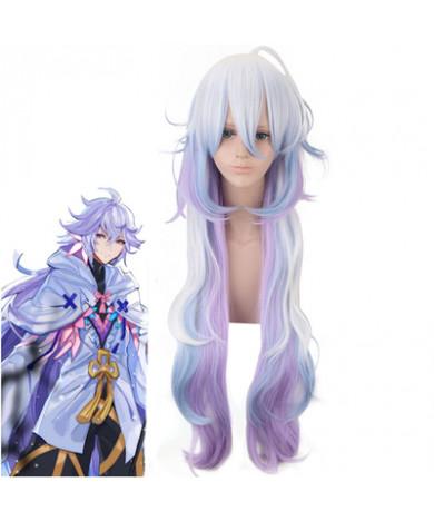Fate Grand Order FGO Merlin Multicolor Gradient Cosplay Wig