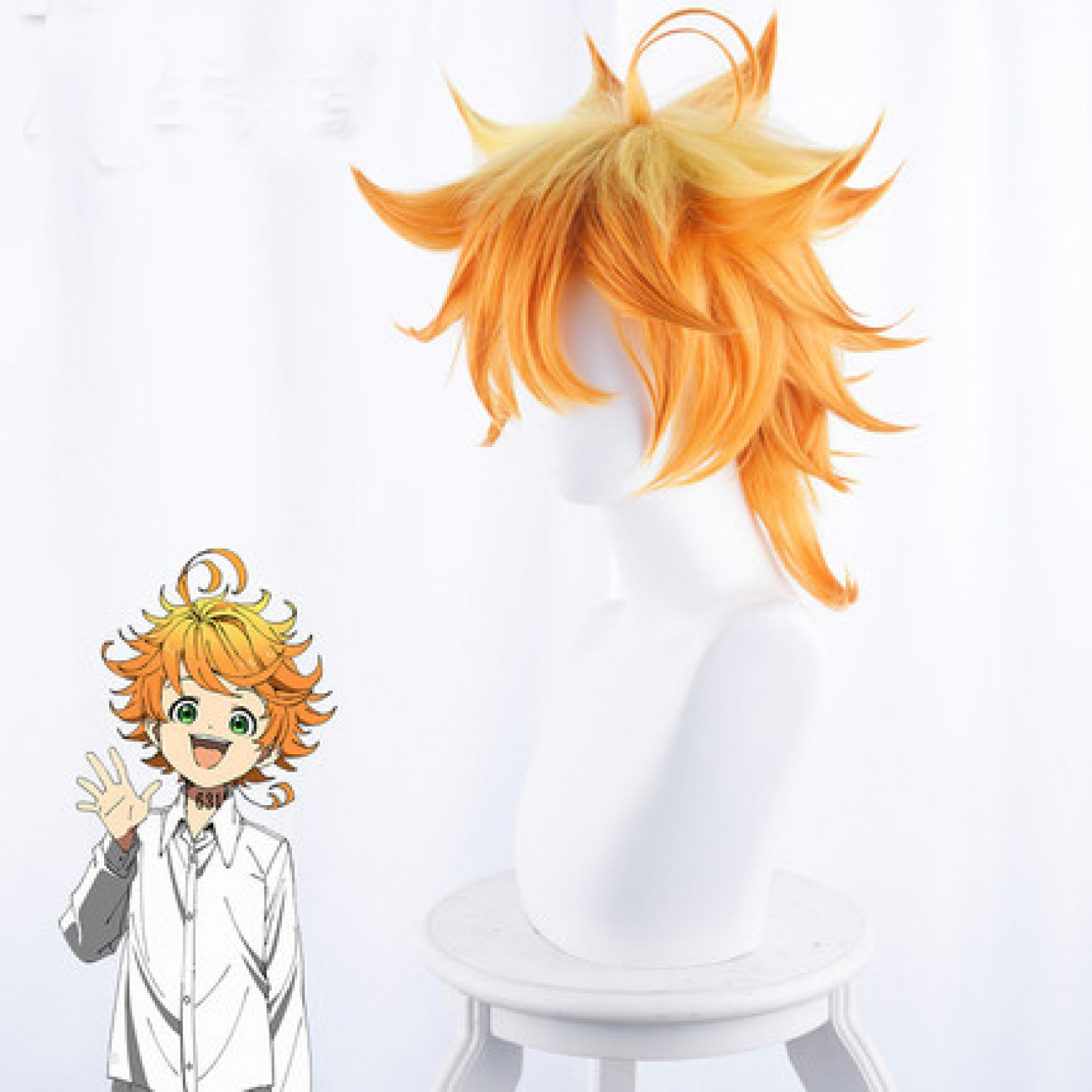 The Promised Neverland Emma Golden Short Cosplay Wig