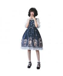 Beauty And Beast Series Printing Sling Classic Lolita Dress