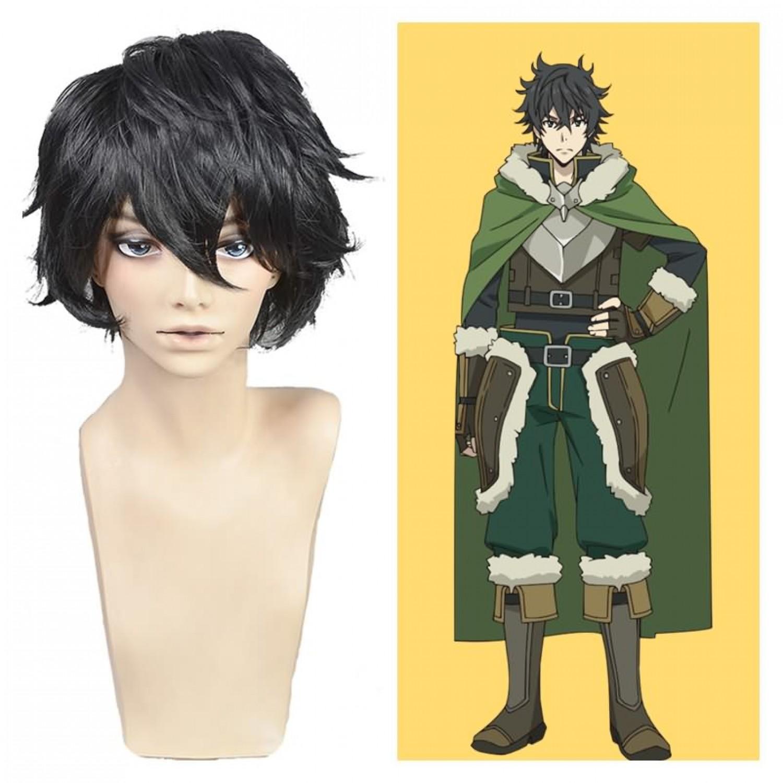 The Rising of the Shield Hero Naofumi Iwatani Black Anime Cosplay Wig