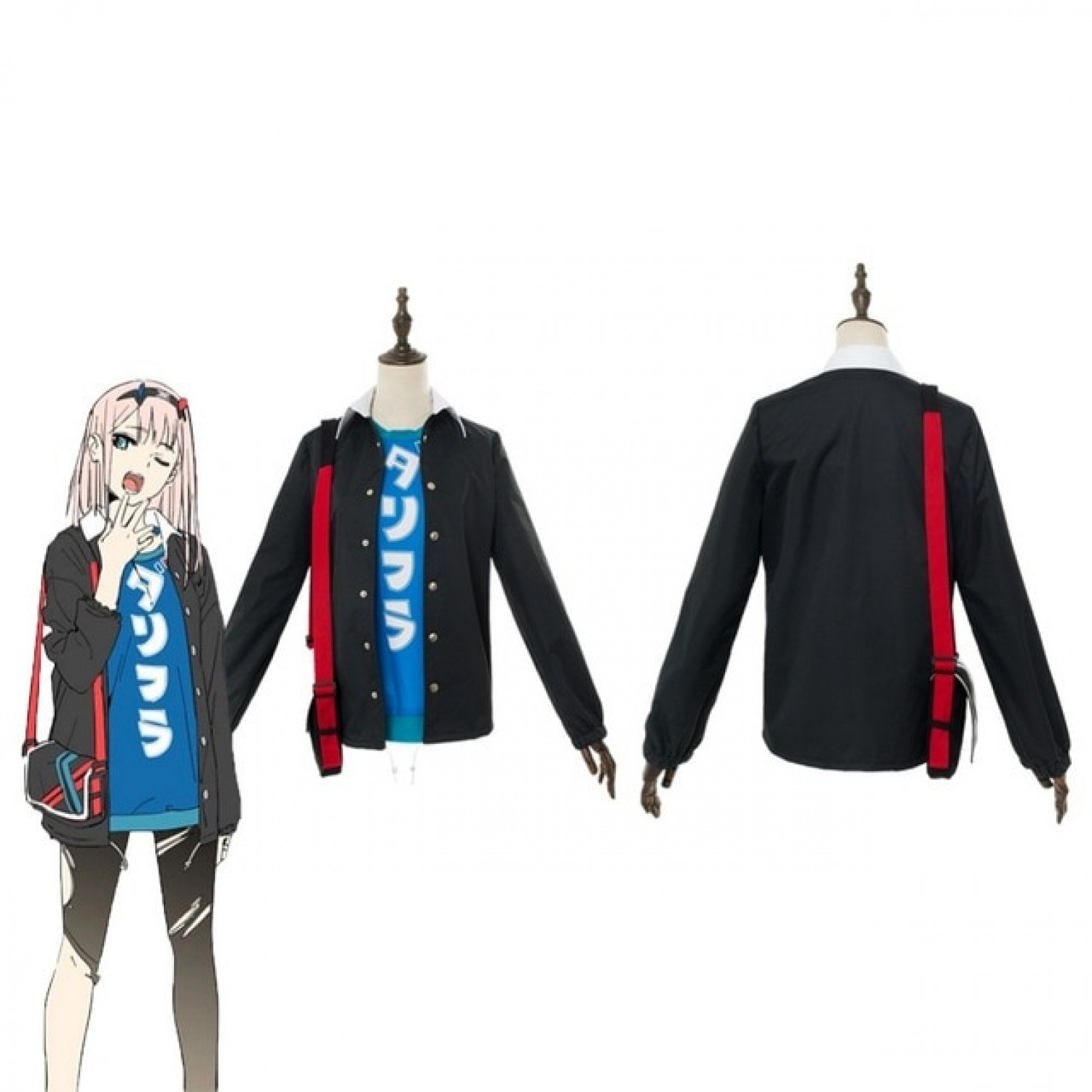 DARLING in the FRANXX code 002 Zero Two Sports Uniform Cosplay Costume
