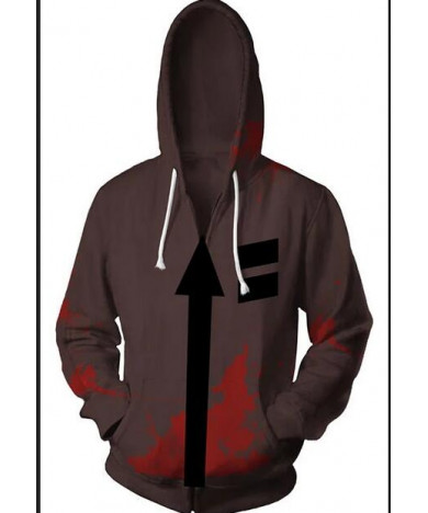 Angels of Death Zack and Rachel White Long Sleeved Hoodie
