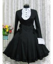 Classic Lolita Long Sleeves Organ Folded Retro Dress