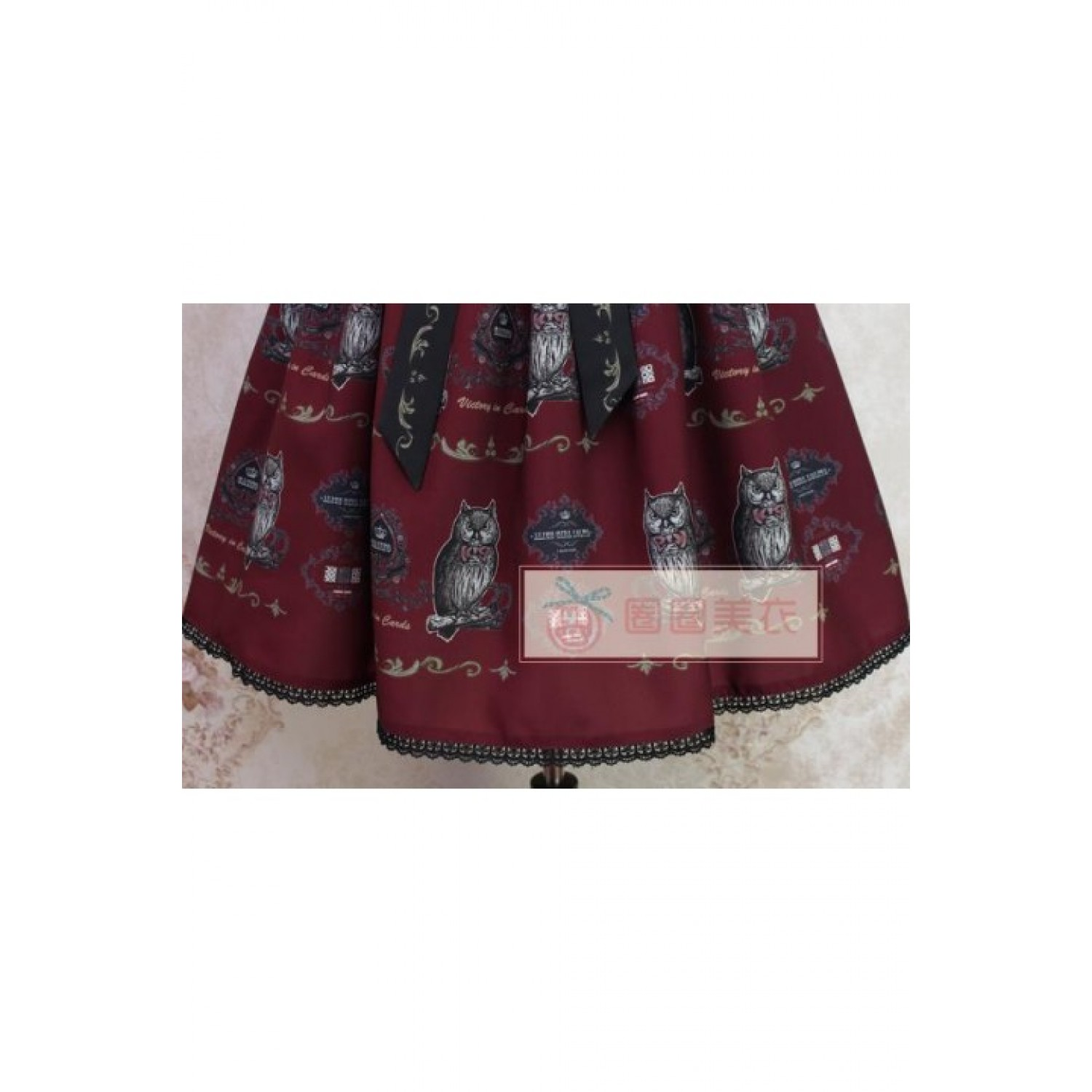 Alice Girl Ow Lolita JSK Dress Wine S In Stock Lolita Dress