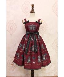 Alice Girl Ow Lolita JSK Dress Wine S In Stock Lolita Dress