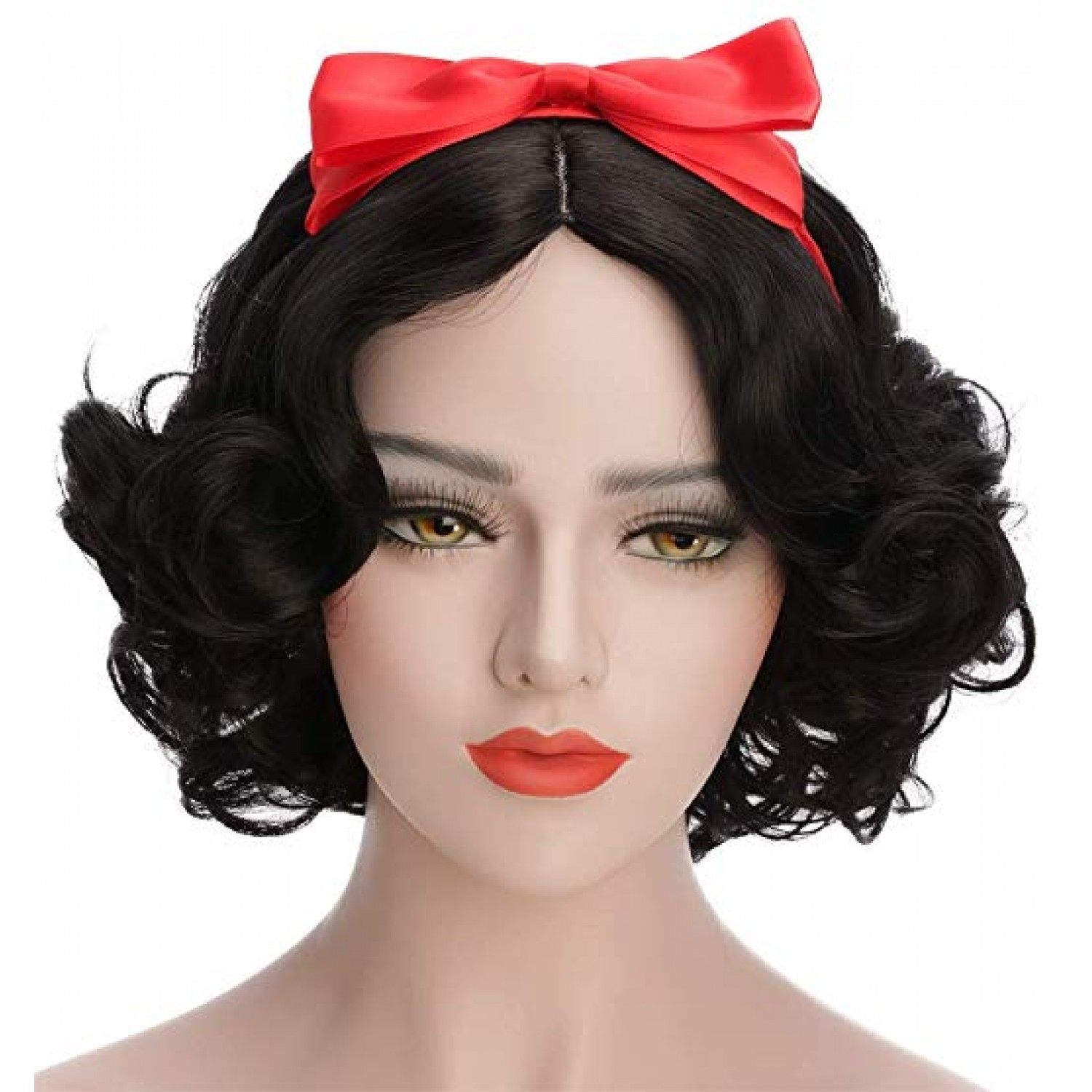 Natural Black Short Bob Haircut Sweet Lolita Wig