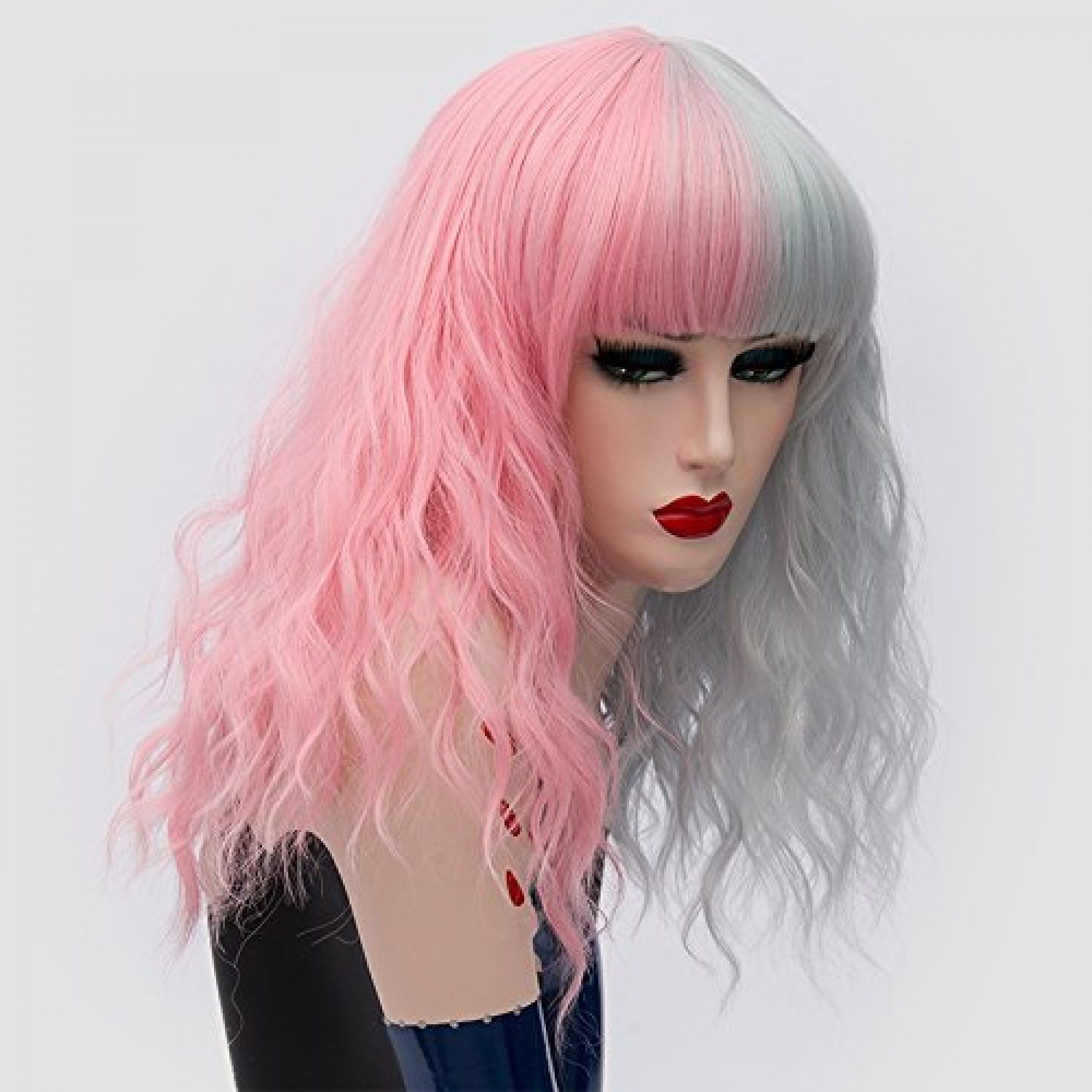 Light Pink Long Curly Synthetic Hair Sweet Lolita Wig