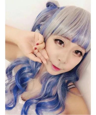 Blue And Gray Mixed Color Harajuku Style Lolita Wig