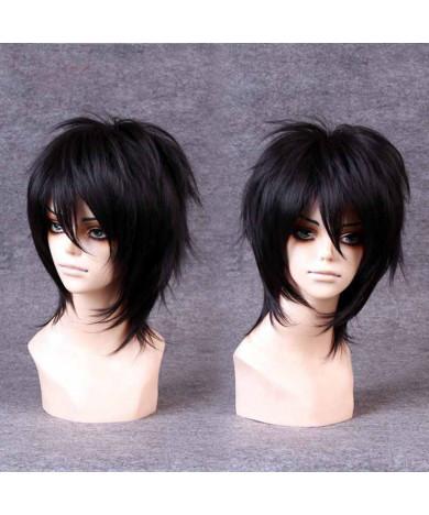 Black Short Layered Straight Heat Resistant Fiber Lolita Wig