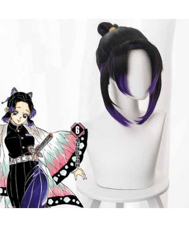 Demon Slayer Kimetsu no Yaiba Kochou Shinobu Cosplay Wig