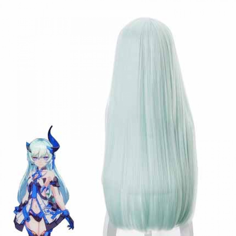 Honkai Impact 3 Kiana Kaslana Green Long Straight Cosplay Wig