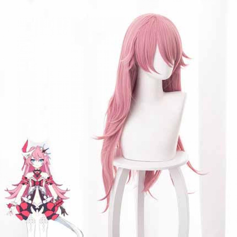 Honkai Impact 3 Rosalia Arlene Pink Long Styled Cosplay Wig