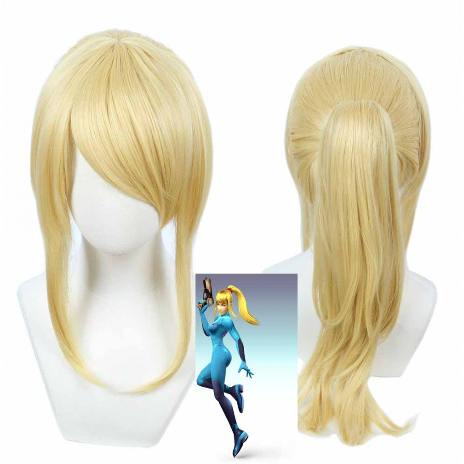 Zero Suit Samus Cosplay Wig Super Smash Bros