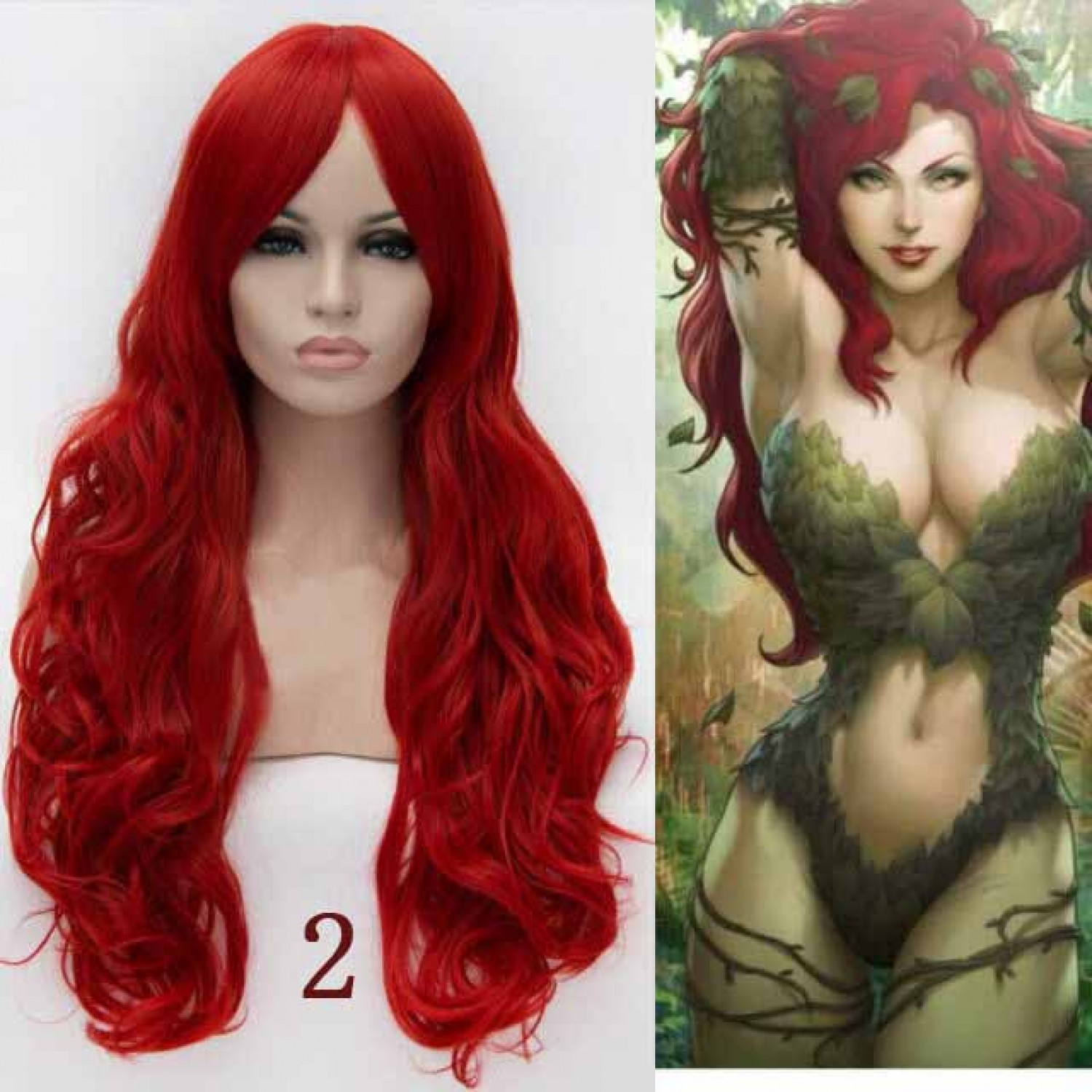 Batman Birds of Prey Poison Ivy Style Cosplay Wig