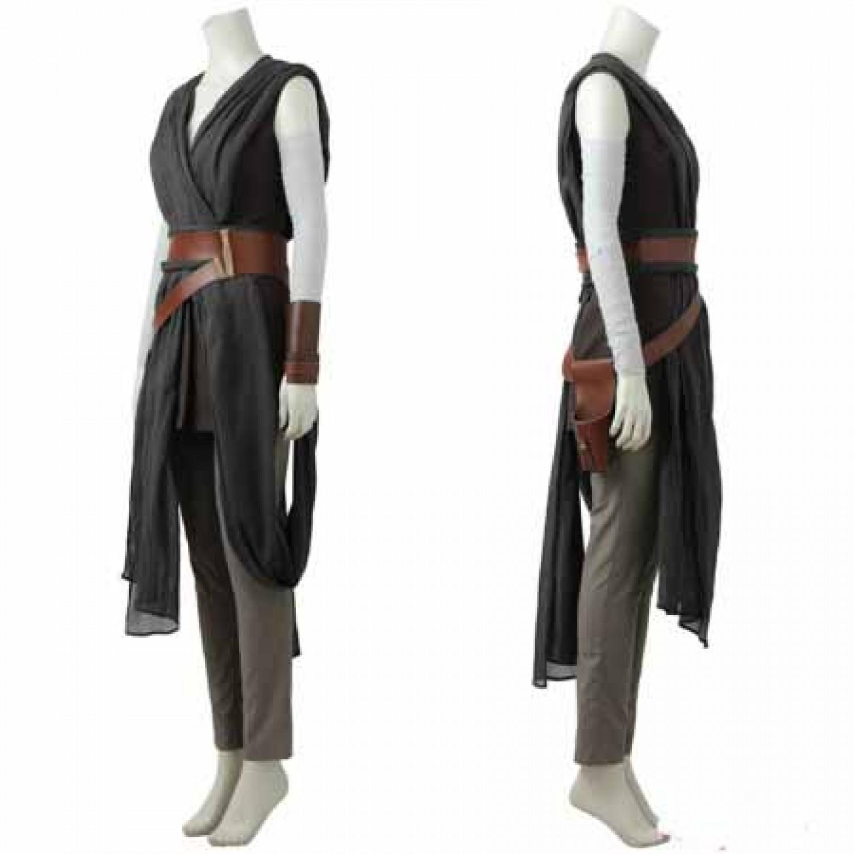 Star Wars 8 The Last Jedi Rey Cosplay Costume