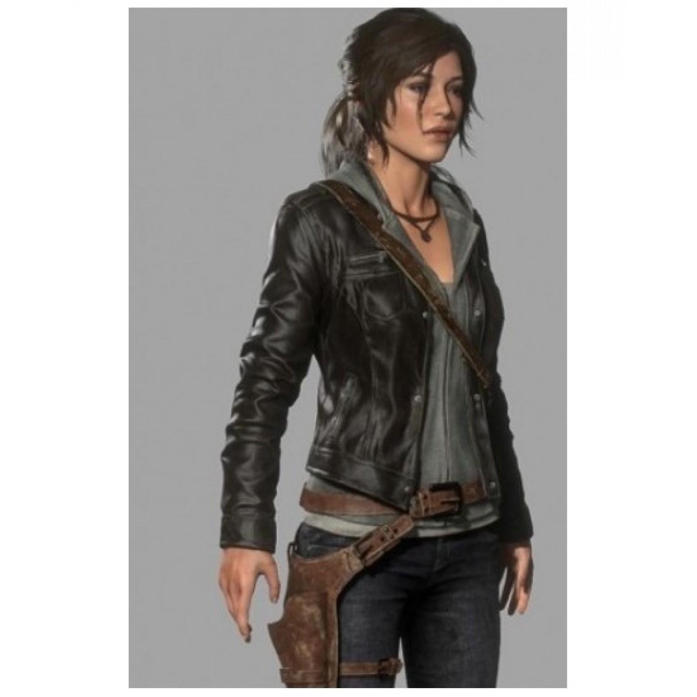 Tomb Raider Lara Croft Leather Cosplay Costume ( free ...