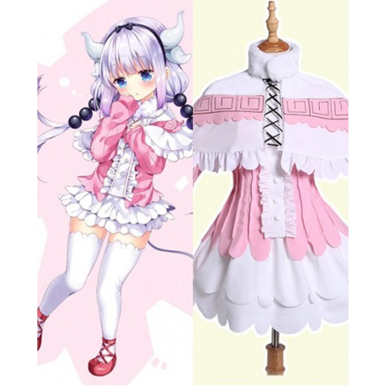 Miss Kobayashi's Dragon Maid Kanna Kamui Cosplay Costume Lolita Dress
